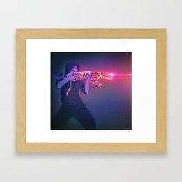 Cat Gun Framed Art Print