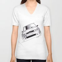 gta v V-neck T-shirts featuring Alfa Romeo 155 GTA by Michele Leonello