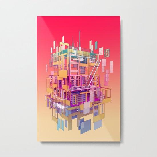 Building Clouds Metal Print