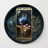 zodiac Wall Clocks featuring Zodiac : Pisces by Andre Sanchez