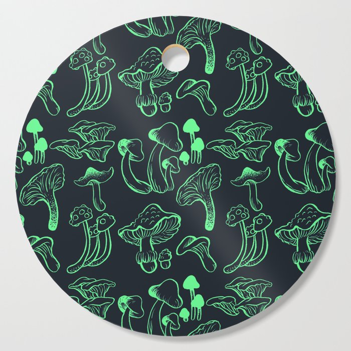Mushroom's Glow Cutting Board By Lunarflwr