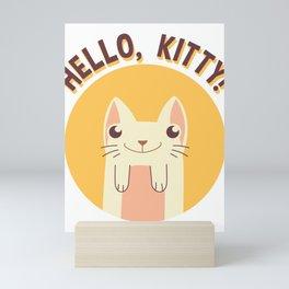 Hello, Kitty Smiling Cat Mini Art Print