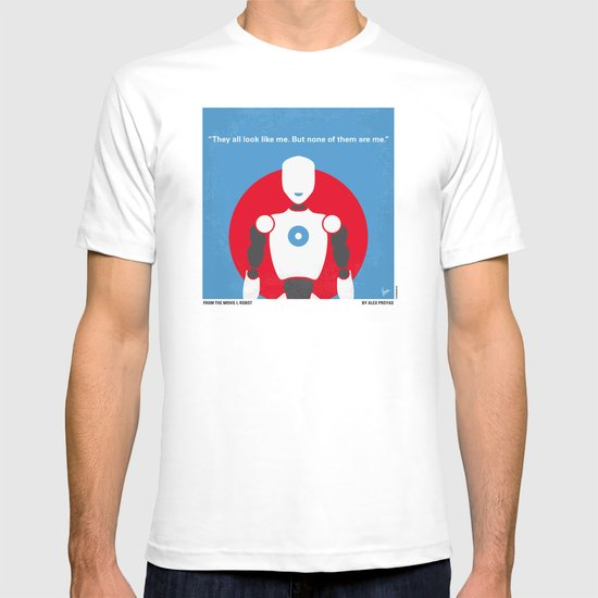 No275 My I ROBOT minimal movie poster T-shirt