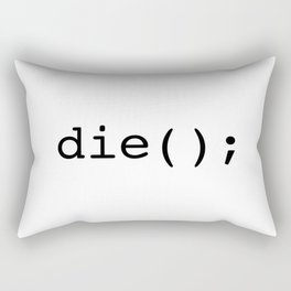 Die Rectangular Pillow