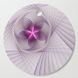 Graphic Design, Fractal Art Pattern With Pink Cutting Board