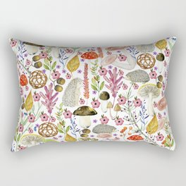 Colorful Autumn woodland animals and foliage pattern Rectangular Pillow