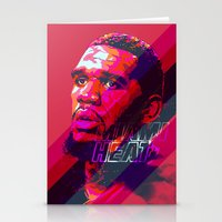 greg guillemin Stationery Cards featuring GREG ODEN MIAMI HEAT by mergedvisible