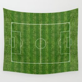 Soccer (Football) Field  on the grass Wall Tapestry