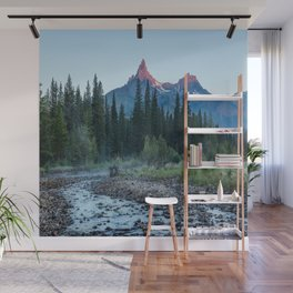 Pilot Peak - Mountain Scenery at Sunrise in Northeastern Yellowstone Wall Mural