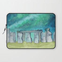 Stonehenge Galaxy watercolor Laptop Sleeve
