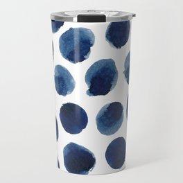 Watercolor polka dots Travel Mug