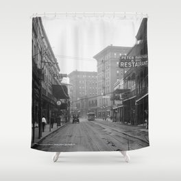 St. Charles Street from Canal, New Orleans, LA Shower Curtain