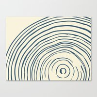tree rings Canvas Prints featuring Tree Rings by Chase