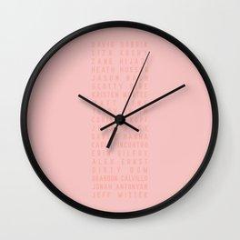 Vlog Squad Pink III Wall Clock