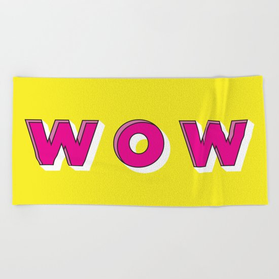 WOW Beach Towel