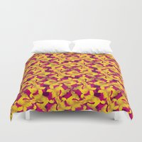 asia Duvet Covers featuring Asia by Emma Stein