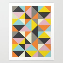 Triangle Pattern X Art Print