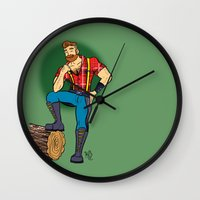 jack daniels Wall Clocks featuring Jack! by Katie Diamond