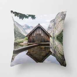 Famous cabin  Throw Pillow