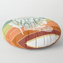 Womens Speak Your Mind Even If Your Voice Shakes RBG Vintage  Floor Pillow