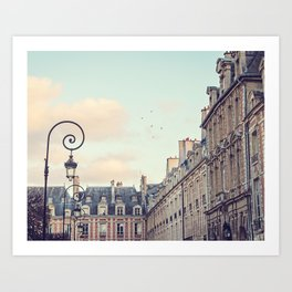 PLACE DES VOSGES (Paris, France) Art Print