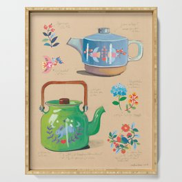 Imaginary teapot designs Serving Tray