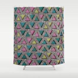 Pastel Diamonds Sparkles Shower Curtain