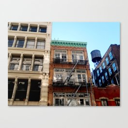 Looking up around SoHo in NYC Canvas Print