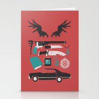 supernatural Stationery Cards featuring Supernatural by Abbie Imagine