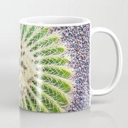 Round Green Cactus Coffee Mug