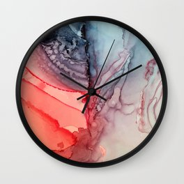 Undertow Meets Lava- Alcohol Ink Painting Wall Clock
