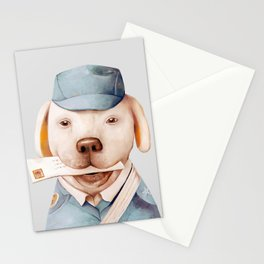 Delivery Dog Stationery Cards