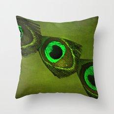 Neon Eyes Throw Pillow