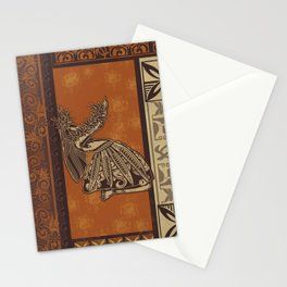 Hawaiian - Samoan Hula Tapa Board Print Stationery Cards