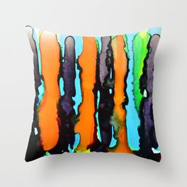 Abstract Stripes Throw Pillow