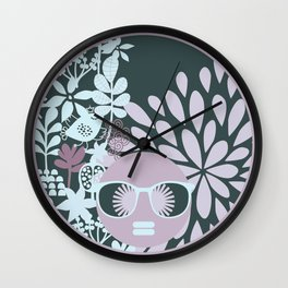 Afro Diva : Sophisticated Lady Pastel Wall Clock