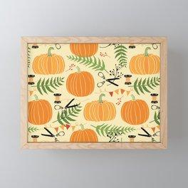 Lovely Pumpkins Framed Mini Art Print