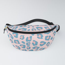 Leopard Print - Peachy Blue Fanny Pack