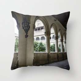 Spanish Cloister with Orange Trees Throw Pillow