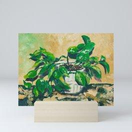 Houseplant painting Mini Art Print