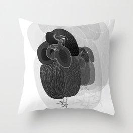 Unfortunate Birdies. Throw Pillow