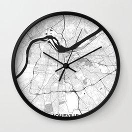 Louisville Map Gray Wall Clock
