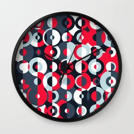 """The """"Simultaneous Discs"""" pattern Wall Clock"""