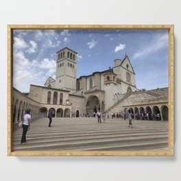Basilica of St. Francis of Assisi - Assisi, Italy Serving Tray
