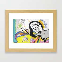 Drum Solo: A Graphic Score Framed Art Print