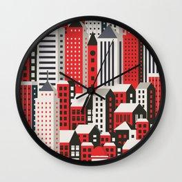 Urban city Wall Clock