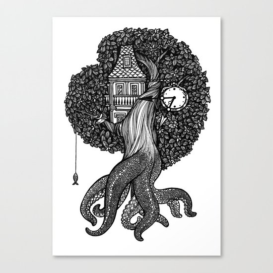 Octotree Canvas Print