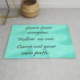 Carve Out Your Own Path Rug