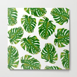 Guatemala - Monstera Deliciosa Jungle Metal Print