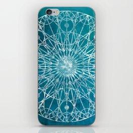Rosette Window - Teal iPhone Skin